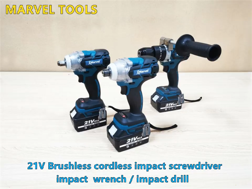 MARVEL N in one 21V High Quality Cordless Impact Wrench Tools Lithium-lon Combo Kit Set Cordless