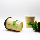 Good quality factory directly biodegradable customized double wall paper cup 8oz pla 20oz