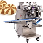Low price hot sell filled petal stripe cookie maker machine price