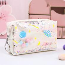 Милый чехол-карандаш 2019, лазерная кожаная коробка для ручек, большая косметичка для девочек, Подарочная сумка для монет, модная косметичка и...(Китай)