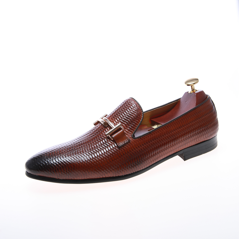 classic casual comfortable thick sole business casual fancy fashion leather shoes for men