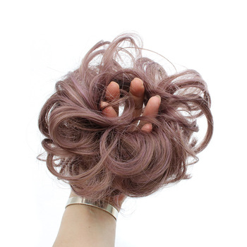 Hair Bun Extensions Wavy Curly Messy Donut Chignons Hair Piece Wig Hairpiece Messy Hair Buns