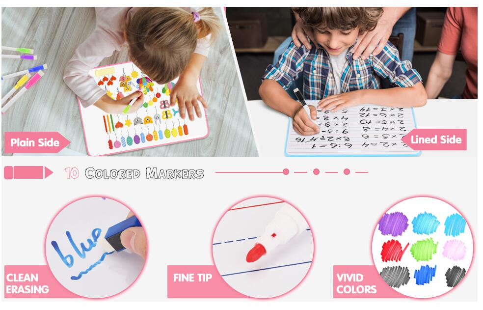 Amazon Hot Sales Office And School Supplies Adjustable Magnetic Dry Erase White Erasable Writing Drawing message Board For Kids