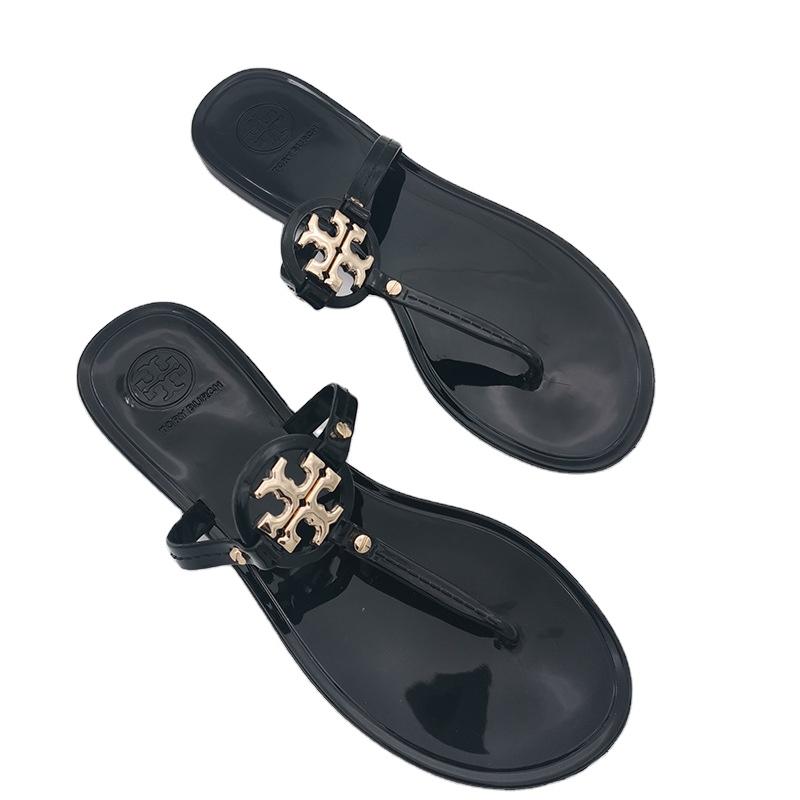 2021 Toe Review Shock Absorb Women's Miller Flip Flops Flat Sandals For Party, White , green , black , skin color , khaki , transparent