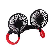 Регулируемый перезаряжаемый вентилятор с мини USB светящийся портативный шейный спортивный вентилятор с шейным ремешком Настольный ручной ...(Китай)