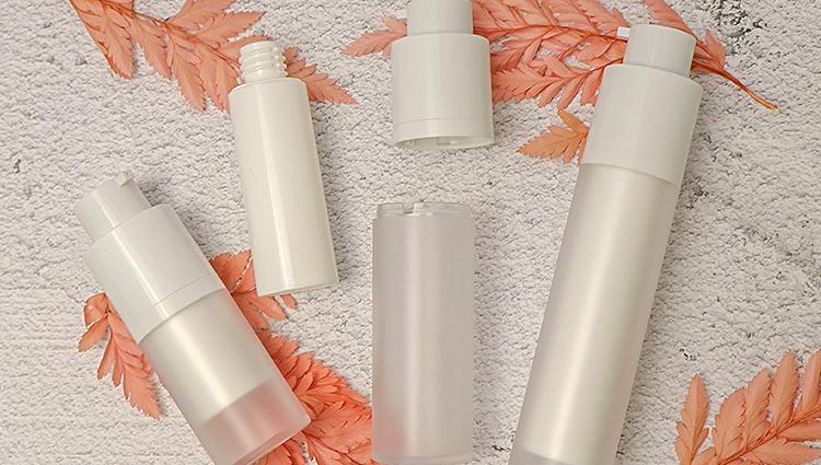 15ml 30ml 50ml Cosmetic White Airless Rotary Pump Lotion Cream Plastic Bottle