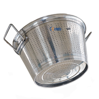 Kitchen Accessories rice washing bowl strainer stainless steel dense hole Mesh Colander with strong and color handle