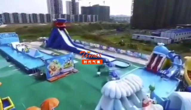 Large commercial inflatable water park slide adults for sale