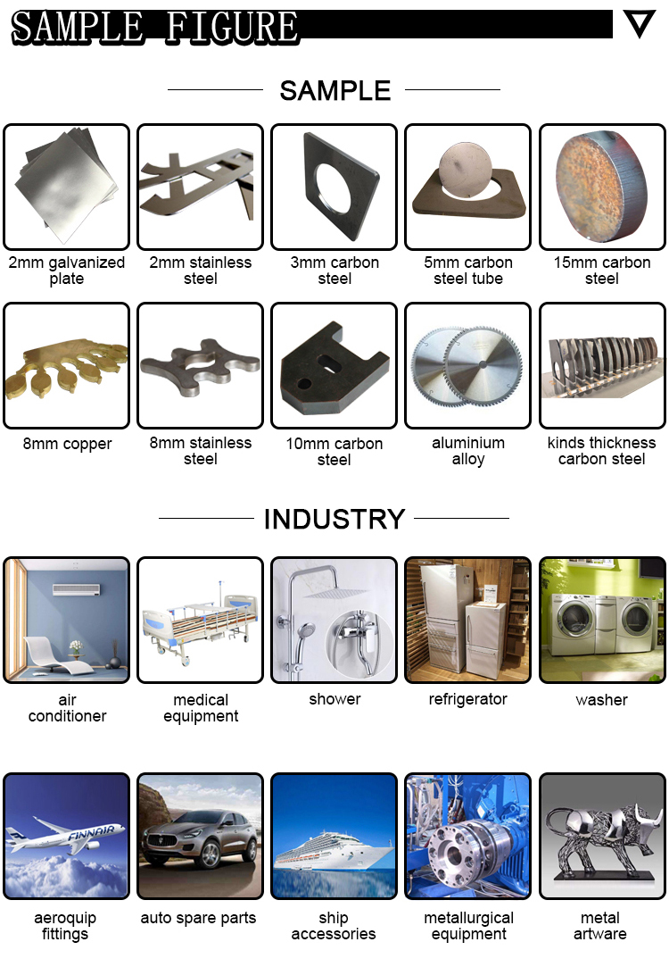 Metal Levha Fiber Lazer Kesim Makineleri 300 W 500 W 1000 W IPG Raycus Lazer Kesici metal malzeme Için