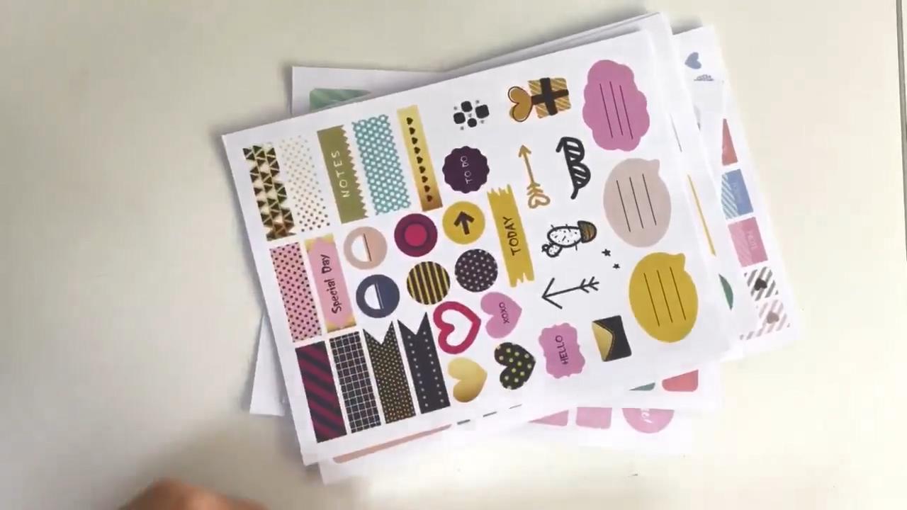 Genieten Van Mijn Manier Wekelijkse Maandelijkse Custom Journal Sticker Sheet Custom Planner Stickers