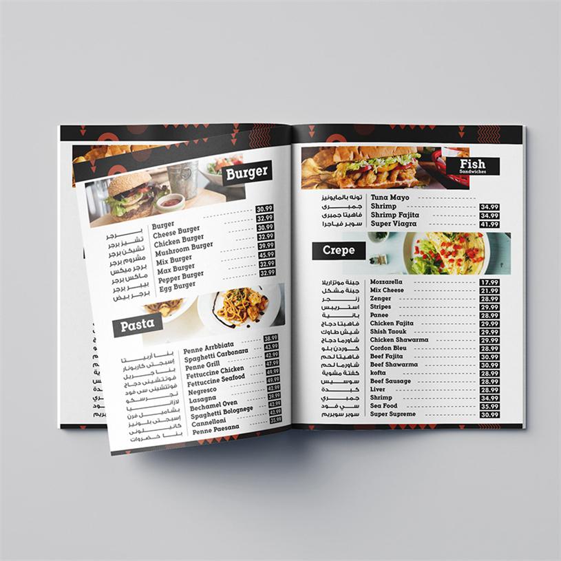 Custom Druck Speisekarte Buch Restaurant Menü