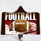 Free shipping most football theme custom printing beach process Hooded Towel for adults