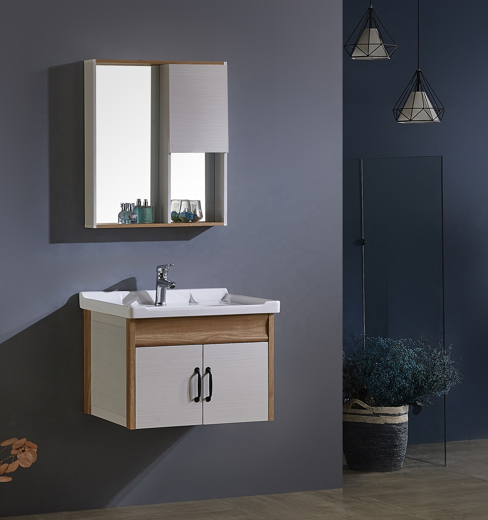 2020 factory wholesale storage aluminum vanity bathroom modern