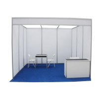 Hot sale 3*3m exhibition trade show booth equipment aluminum profile modular standard shell scheme booth