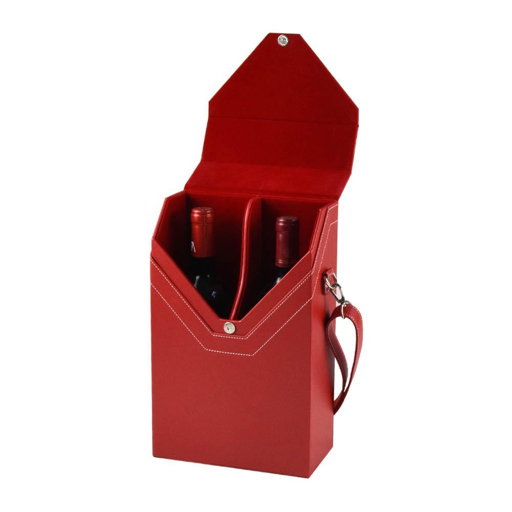 Custom french/italian anniversary/wedding/birthday personalised/wooden gift vintage wine box for 2 bottles