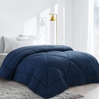 Machine Washable All Season King Size Quilted Microfiber Filled Bedding Comforter,Queen Size Luxury Comforter 100% Polyester