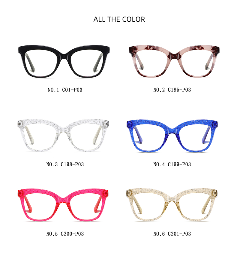 Hot sale women fashion anti blue light glasses frames popular lady eyewear coating film protection eyeglasses