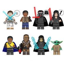 Набор из 8 предметов, Звездные войны, серия Marvel, супергерой, Мстители, Железный человек, эбеновое дерево, строительные блоки, фигурки, совмест...(Китай)