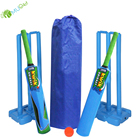 YumuQ 78CM Plastic Beach Cricket, Cricket Bat Kit Set for Double Kids, Youth OR Adult Outdoor Garden Lawn Games
