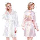 TuKIIE Fashion Sexy Silk Bridesmaid Knee Length Night Gown Kimono Lingerie Women Nightdress Sleepwear Bath Robes Nightgown