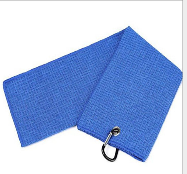 china supplier wholesale custom microfibre waffle cleaning cloth golf towel with hook