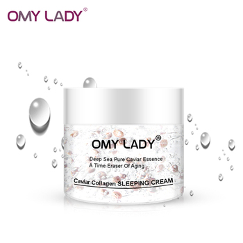 omy lady caviar night cream private label korean cosmetics best anti aging face whitening cream