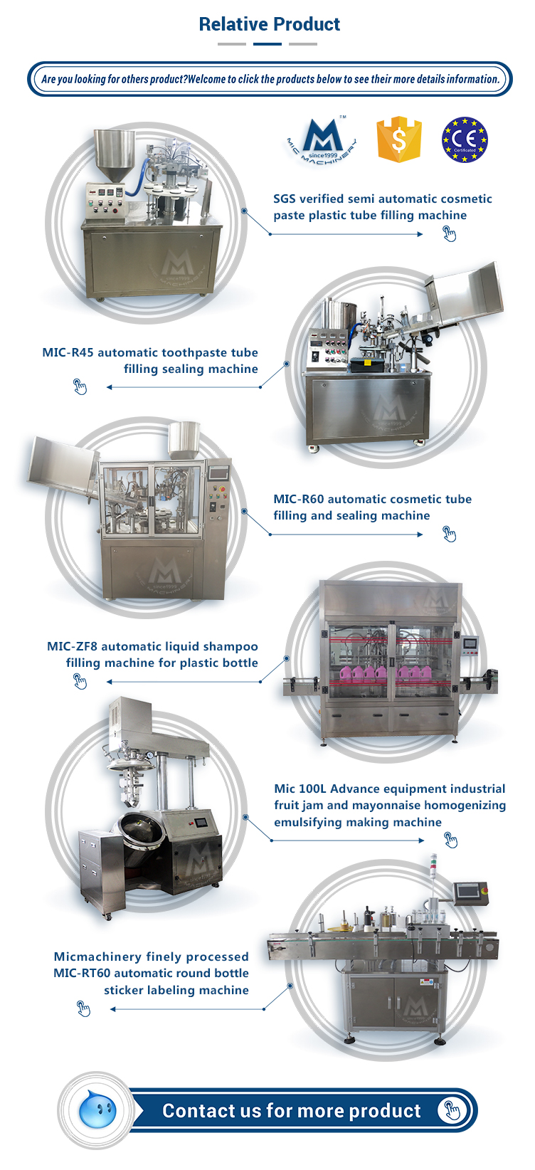 MIC-LL45 automatic cosmetic cream paste glass jar filling capping and labeling machine