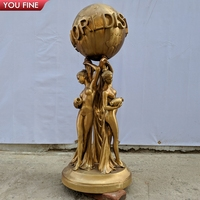 Full Size Bronze the world is yours statue for Sale