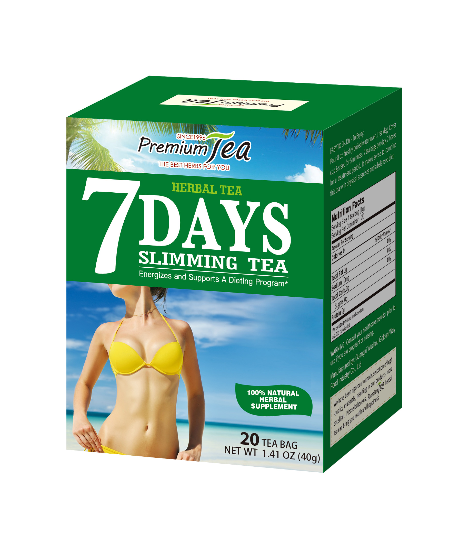 7 Days china herbal private label Slimming dropship flat tummy slimming tea - 4uTea | 4uTea.com