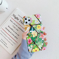 2020 New Models Luxury Beautiful Flower Pattern Shining Back Cover Slim TPU Glitter Phone Case For iphone 11 Pro max
