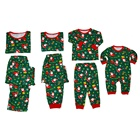 Green Family 2020 Green Cartoon Print Christmas Family Matching Pyjamas