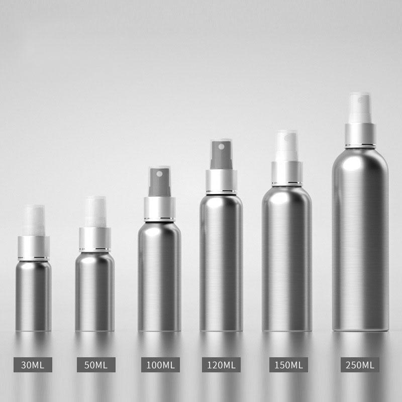 30ml 50ml 100ml 120ml 150ml 250ml 500ml Wholesale Cosmetic Aluminum Bottle Spray Bottle