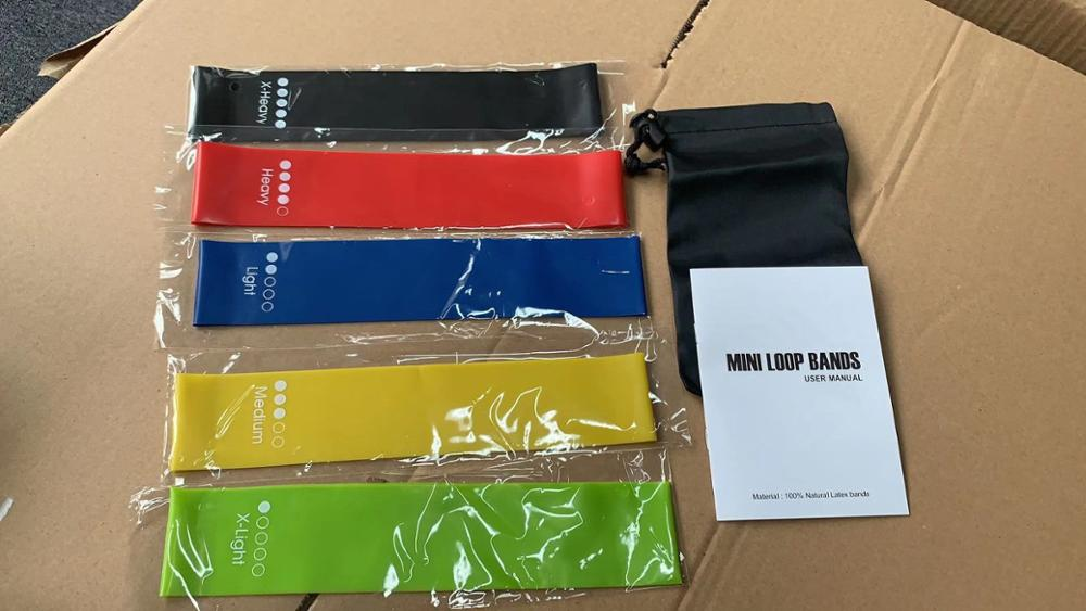 High quality exercise mini latex custom printed logo fitness resistance bands set