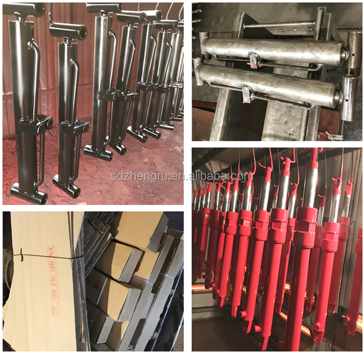 Double Piston Rod Hydraulic Cylinder untuk Forklift/Wrecker