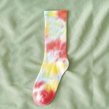 Модные хлопковые носки для мужчин и женщин, баскетбольные Носки в стиле хип-хоп, носки для катания на коньках, носки унисекс с галстуком-крас...(Китай)