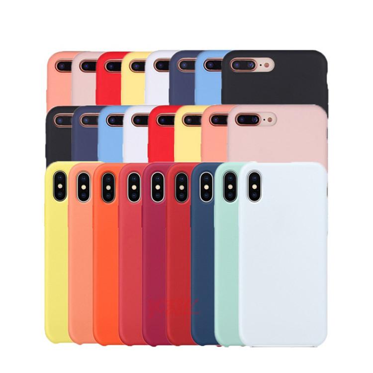 52 cores tampa do telefone de Borracha de Silicone Líquido para o caso do iphone