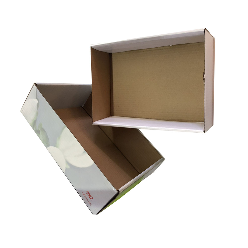 Custom colorful box packaging vegetable and fruit paper carton box for transport