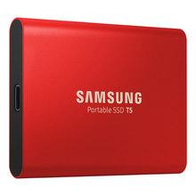 Samsung T5 портативный SSD 250 ГБ 500 Гб ТБ 2 ТБ USB3.1 внешние твердотельные накопители USB 3,1 Gen2 и обратная совместимость с ПК(Китай)