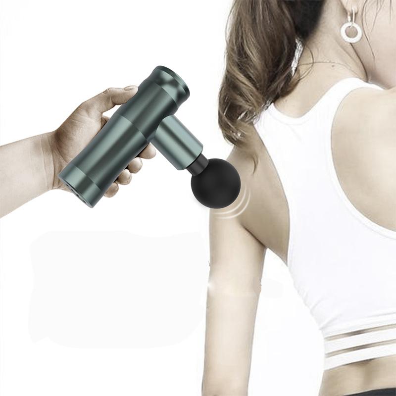 Handheld Massagem Profunda Do Tecido Muscular de Percussão Arma, 4 Acessórios de Cabeça Rápida Recarregável Vibração de Corpo Massagem Muscular Arma