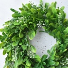 2019 Wholesale Preserved Boxwood Farmhouse Christmas Wedding Decorative Garland Green Wreath Spring Wreath