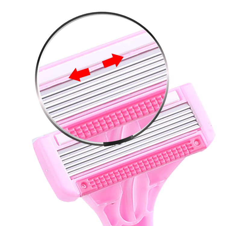 Custom Logo Face Five Blade Safety Disposable Plastic Shaving Razor