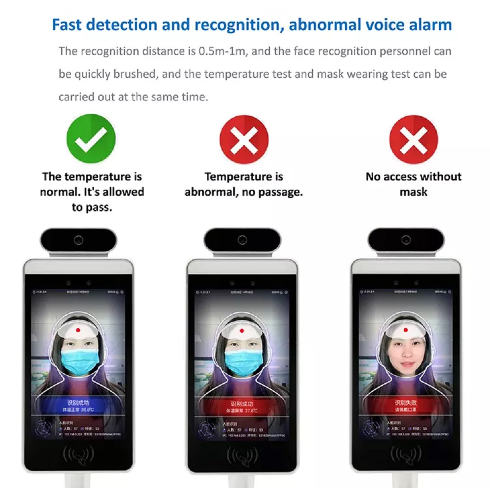 Temperature Detector Face Recognition
