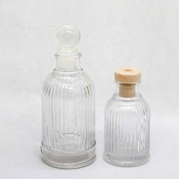Wholesale decorative reed diffuser essential oil glass bottle