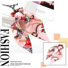 35 стиль бант-узел Цветочный Эластичный ободок для волос для женщин Красный завязанный бант лента повязка для волос корейская мода аксессуа...(Китай)