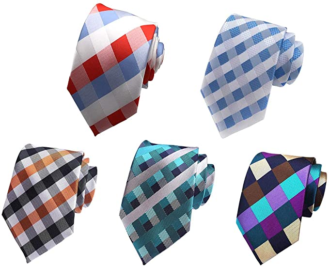 Men's Lot 5 PCS Workdays Tie Polka Dots Neck Ties Silk Neckties Set of 5
