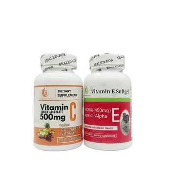 GMP Private Label Helps Improve The Immune System, Anti-Aging Natural Vitamin C And Vitamin E Capsules