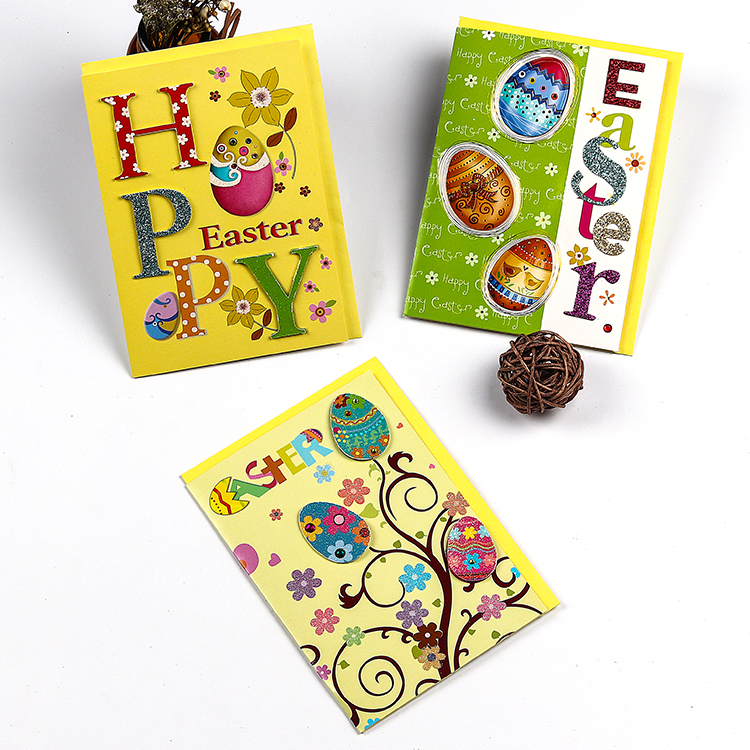 Colorful Easter Eggs To Bring Holiday To The Easter Day  Handmade Easter Greeting Cards