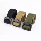Plastic Anti-Metal Allergy Security Belt Casual Tactical Outdoor Nylon Canvas Belt