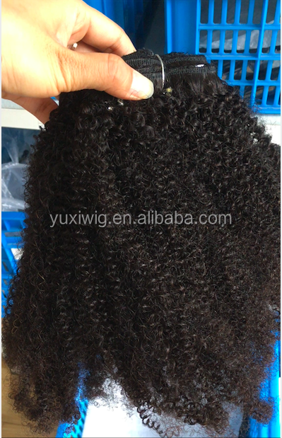 In stock Top selling Real Virgin Mongolian Afro kinky Curly Human hair