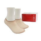 Stock indoor alley try on pop white black beige men tube polyester disposable socks transparent sock sox stock